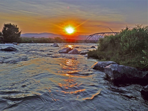 $3.00 BRIDGE SUNSET -1-