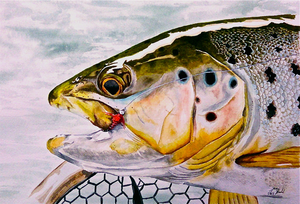 Buffalo jump immortalized planettrout for Fly fishing art